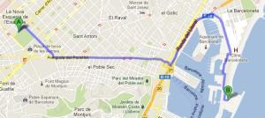 Recorrido Parque Joan Miro - Hotel W