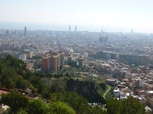 Vue de Barcelonje depuis le turo de la Rovira
