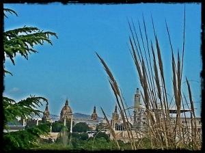 Vista sobre el MNAC y el palau san Jordi
