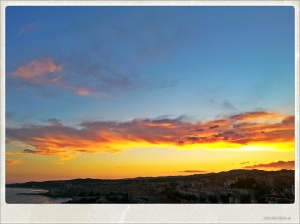 Puesta de sol en Sitges.
