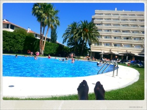 Piscina del hotel Meliá Sitges.