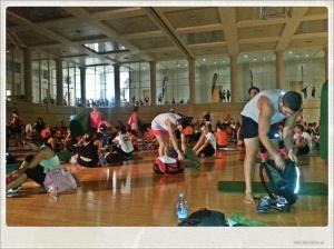 Fin de la sesion de BodyBalance organizada por Reebok.