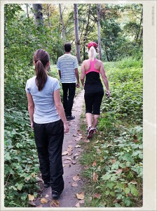 Caminata en familia.