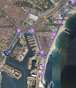 Mi recorrido por La Barceloneta.