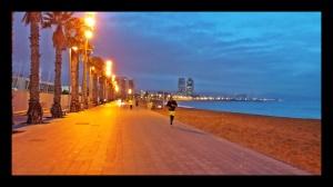 Running en la Barceloneta