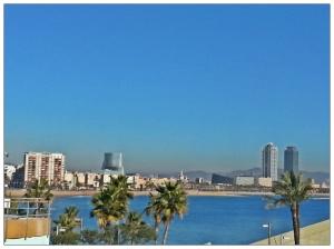 Vista del hotel Arts y la torre Mapfre