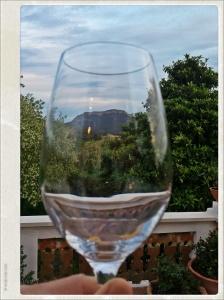 Vista desde la terraza de Mas Figueres