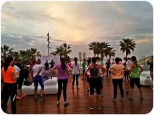 Nike Run Club Antes de salir a correr.
