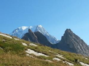 Nuestra 1ra vista del Mont Blanc